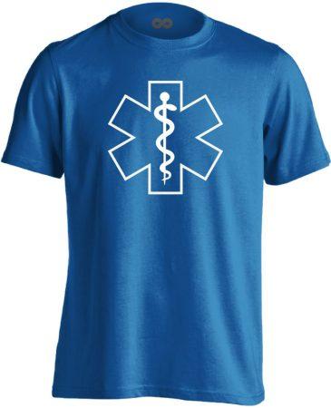Aszklépiosz sürgősségi férfi póló (kék)