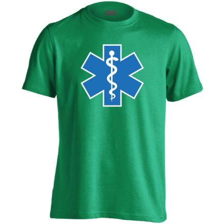Aszklépiosz sürgősségi férfi póló (zöld)