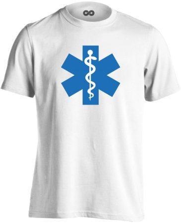 Aszklépiosz sürgősségi férfi póló (fehér)