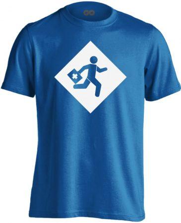 Rohanás sürgősségi férfi póló (kék)