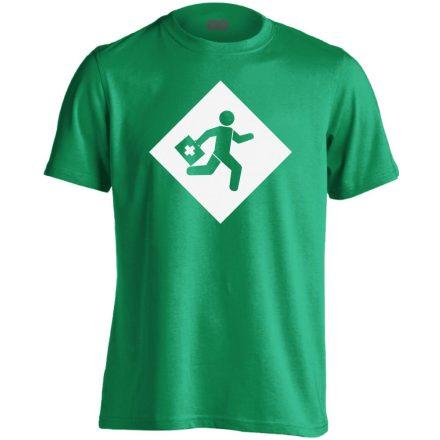 Rohanás sürgősségi férfi póló (zöld)