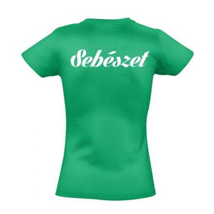 Sebészeti női póló (zöld)