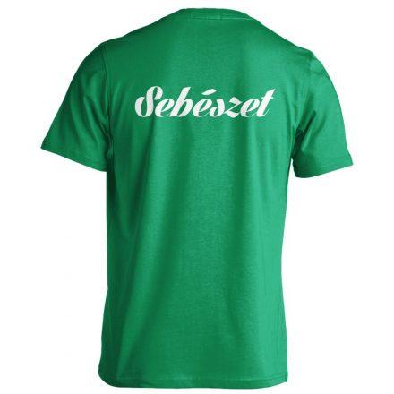 Sebészet férfi póló (zöld)