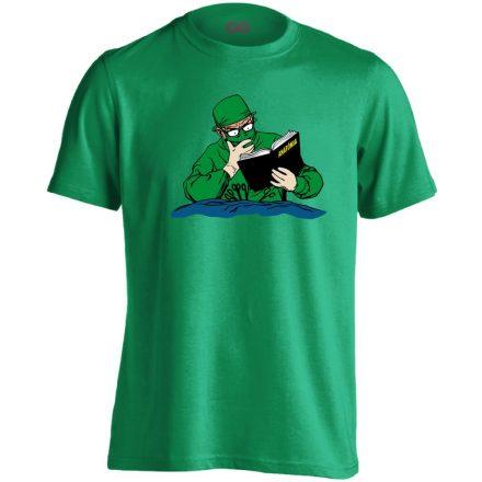 Tanulni Sosem Késő sebészeti férfi póló (zöld)