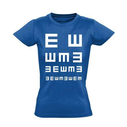 Látás Teszt szemészeti női póló (kék)