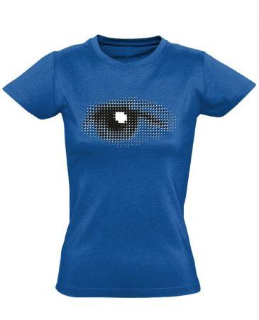 Szívével Lát Az Ember szemészeti női póló (kék)