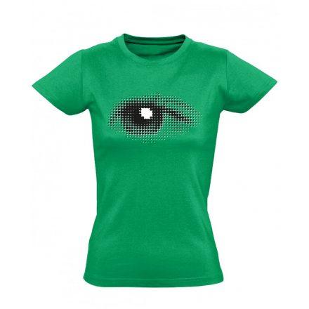Szívével Lát Az Ember szemészeti női póló (zöld)