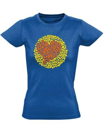 Vak Szerelem szemészeti női póló (kék)