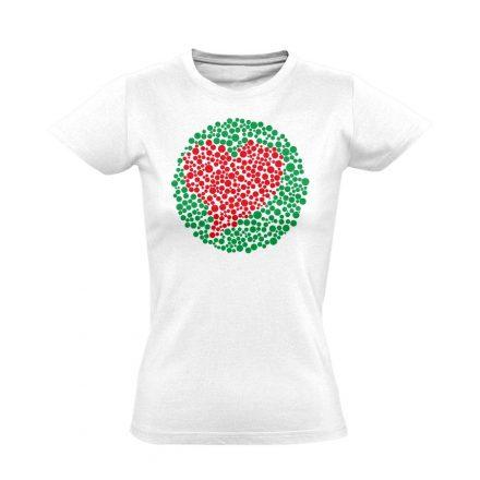 Vak Szerelem szemészeti női póló (fehér)
