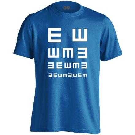 Látás Teszt szemészeti férfi póló (kék)