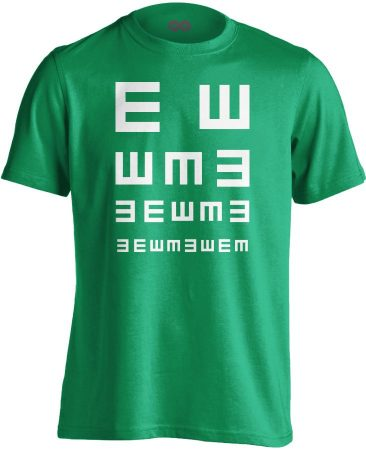 Látás Teszt szemészeti férfi póló (zöld)