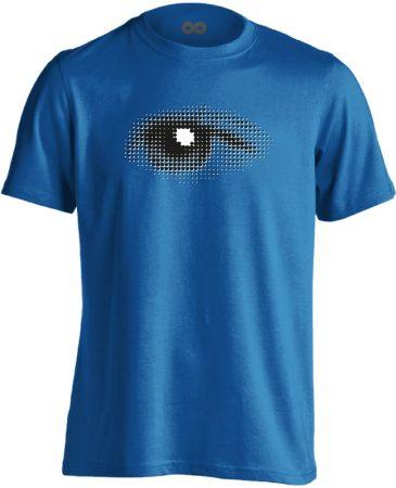 Szívével Lát Az Ember szemészeti férfi póló (kék)