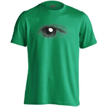 Szívével Lát Az Ember szemészeti férfi póló (zöld)
