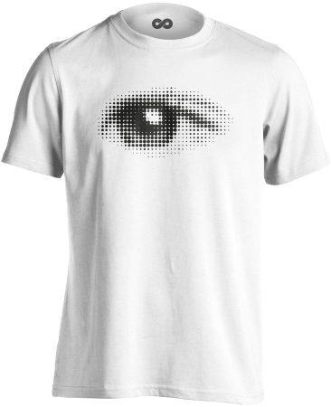 Szívével Lát Az Ember szemészeti férfi póló (fehér)
