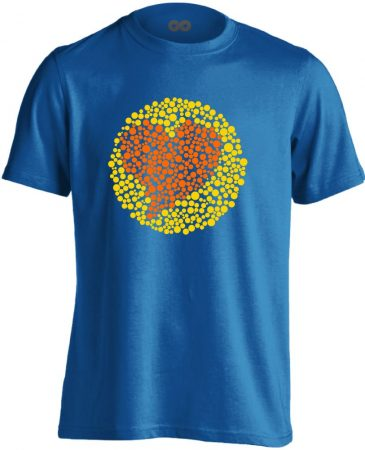 Vak Szerelem szemészeti férfi póló (kék)