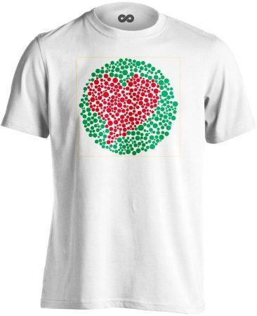 Vak Szerelem szemészeti férfi póló (fehér)
