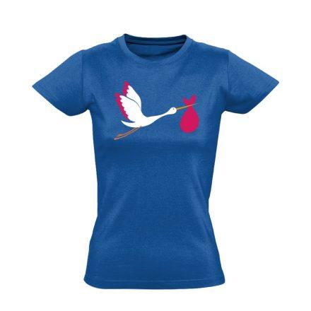 GólyaHozza szülészeti női póló (kék)
