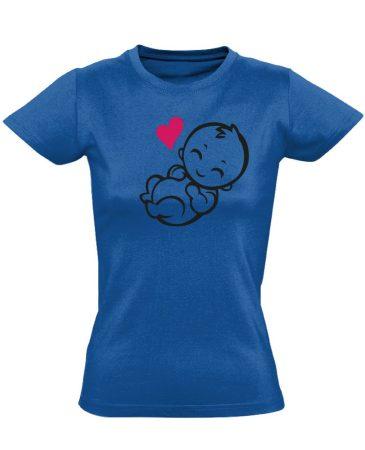Babuci szülészeti női póló (kék)