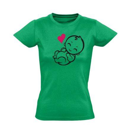Babuci szülészeti női póló (zöld)