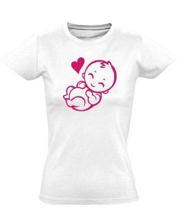 Babuci szülészeti női póló (fehér)