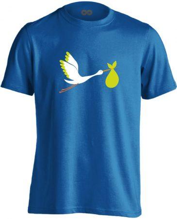 GólyaHozza szülészeti férfi póló (kék)