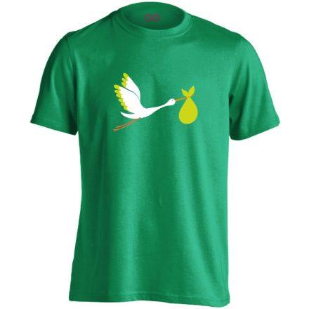 GólyaHozza szülészeti férfi póló (zöld)