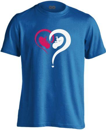 Fiú vagy Lány? szülészeti férfi póló (kék)