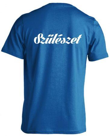 Szülészet férfi póló (kék)