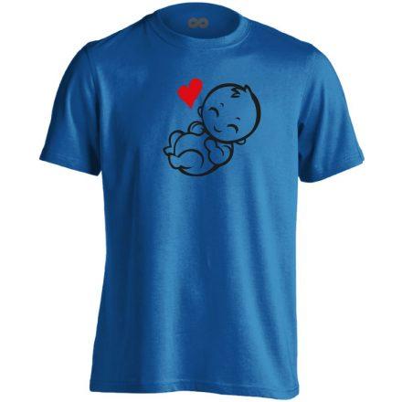 Babuci szülészeti férfi póló (kék)