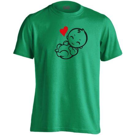 Babuci szülészeti férfi póló (zöld)