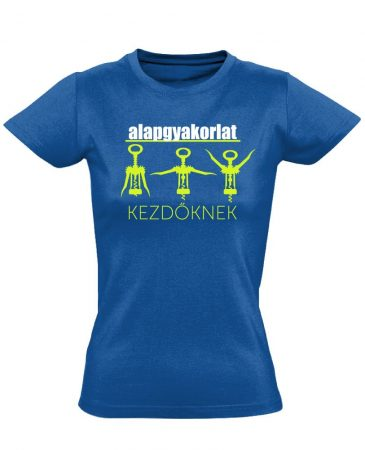 Alapgyakorlat gyógytornász női póló (kék)