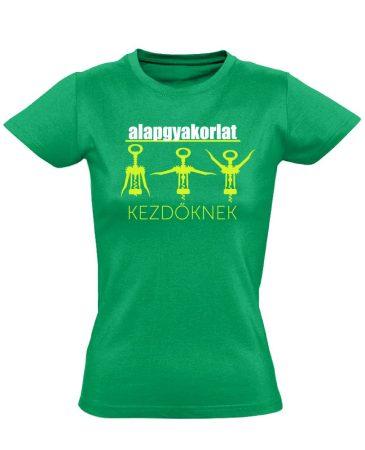 Alapgyakorlat gyógytornász női póló (zöld)