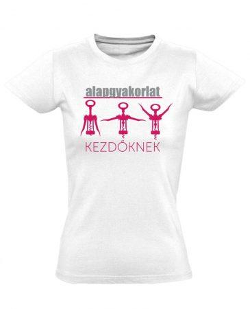 Alapgyakorlat gyógytornász női póló (fehér)