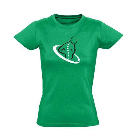 TestÚjító gyógytornász női póló (zöld)