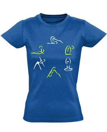 Kicsi Mozgás Mindenkinek Kell gyógytornász női póló (kék)