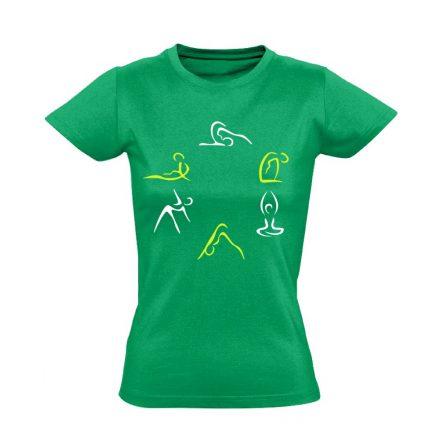 Kicsi Mozgás Mindenkinek Kell gyógytornász női póló (zöld)