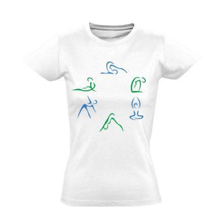 Kicsi Mozgás Mindenkinek Kell gyógytornász női póló (fehér)