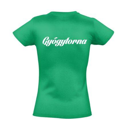Gyógytorna női póló (zöld)