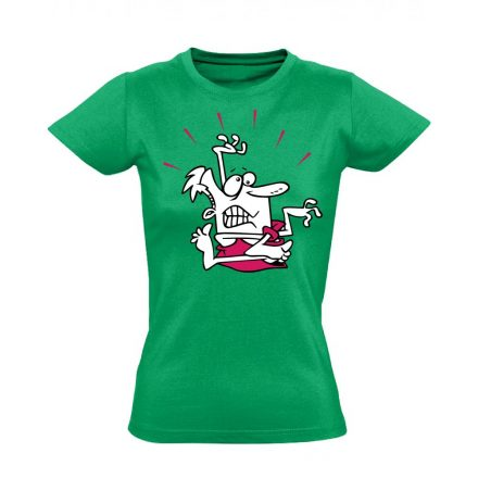 Gubanc gyógytornász női póló (zöld)