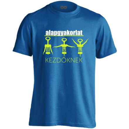 Alapgyakorlat gyógytornász férfi póló (kék)