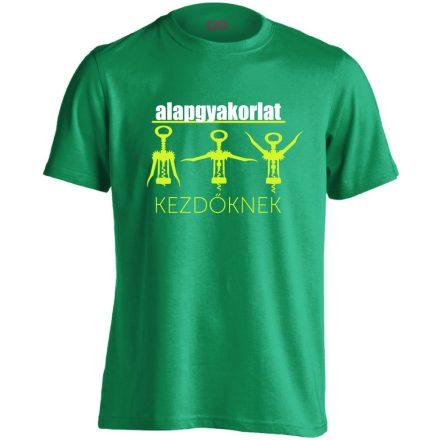 Alapgyakorlat gyógytornász férfi póló (zöld)