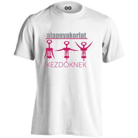 Alapgyakorlat gyógytornász férfi póló (fehér)