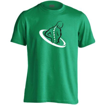 TestÚjító gyógytornász férfi póló (zöld)