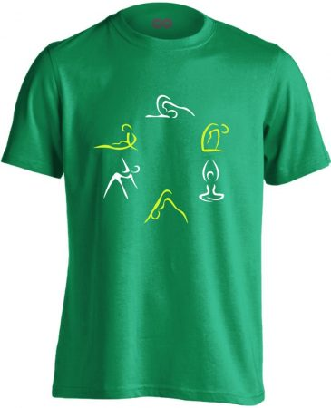 Kicsi Mozgás Mindenkinek Kell gyógytornász férfi póló (zöld)