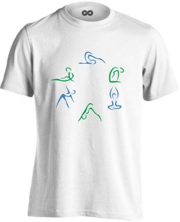 Kicsi Mozgás Mindenkinek Kell gyógytornász férfi póló (fehér)