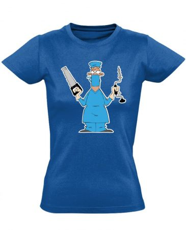 Fúr-Farag traumatológiai női póló (kék)