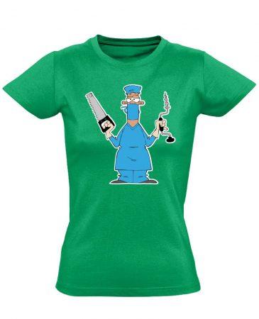 Fúr-Farag traumatológiai női póló (zöld)