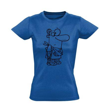 Kösz Jól Vagyok traumatológiai női póló (kék)
