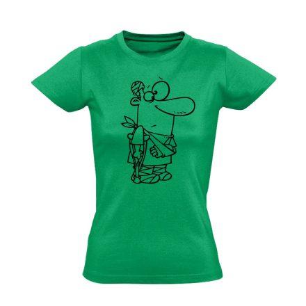 Kösz Jól Vagyok traumatológiai női póló (zöld)