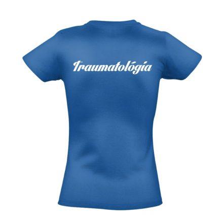Traumatológia női póló (kék)
